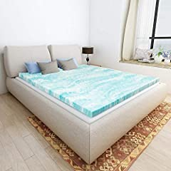 Instantly add a comfort layer to your mattress with the Milemont 2 Inch Gel Memory Foam Mattress Topper. Soft, supportive memory foam helps to relieve pressure points by distributing weight evenly. The memory foam is infused with gel that wor...