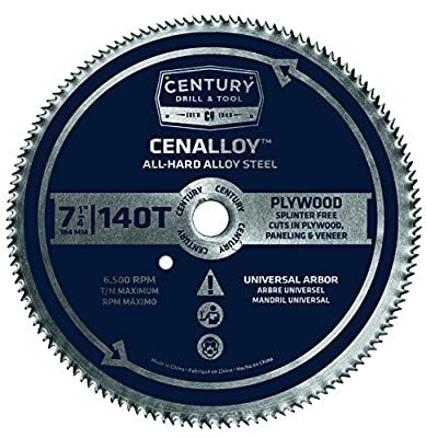 Century Drill and Tool Cenalloy All Hard Steel Plywood Circular Saw Blade