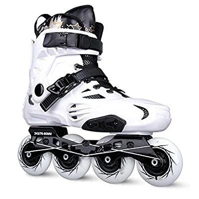 WY Inline Skates for Men Unisex Racing PP Material ABEC-9 Bearing Travel Urban Use White : Sports & Outdoors