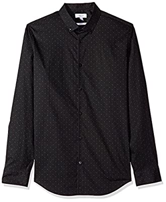 Calvin Klein Men's Long Sleeve Button Down Shirt With 2-Way Stretch