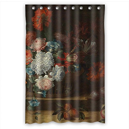 Classic Bronze Outdoor Bracket - Polyester Famous Classic Art Painting Flowers Blossoms Bath Curtains Width X Height / 48 X 72 Inches / W H 120 By 180 Cm Gift Or Decor For Kids Mother Her Kids Girl Husband. Wipe Clean - Fabric