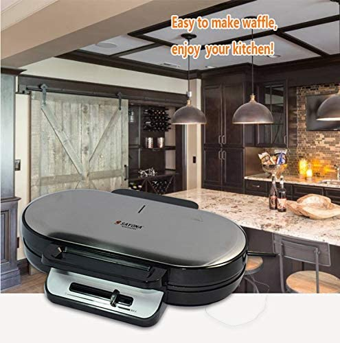 JINRU Waffle Maker Double Sandwich Maker Plate Coated Antiadhésives Petit-Déjeuner Grille-Pain Sandwich Maker