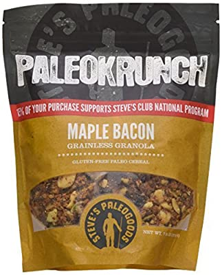 Paleokrunch Paleo Cereal Grainless Granola, Maple Bacon, 7.5 oz by Steve's PaleoGoods