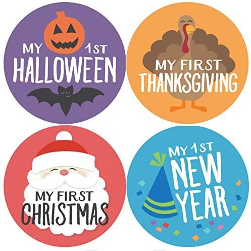 Baby Holidays, Holiday Stickers, Milestone Stickers, My First Christmas, My First Halloween, Baby Stickers, Baby Gift by Penny & Prince Designs LLC
