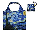 Heavy Duty Reusable Grocery Bags with Zipper Closure,Foldable into Zippered Pocket Nylon Shopping Bag Folding Eco Friendly Grocery Tote Bag for Girls Gifts Bag Waterproof Xlarge (STAR NIGHT)