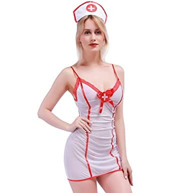 Amazon.com: Lingso Lingerie - Disfraz de enfermera Uniforme ...