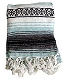 Mexican Style Falsa Yoga Blanket (Sea Green)