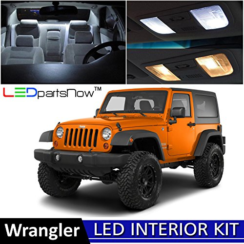 3412c67994d free shipping LEDpartsNow 2007-2015 Jeep Wrangler JK LED Interior Lights  Accessories Replacement Package Kit