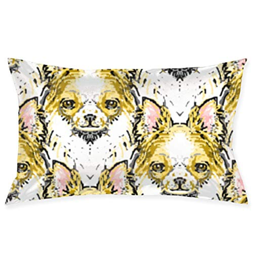Long Haired Chihuahua 20''x 30'' Bed Pillow Case Cover Cushions Queen Size Standard Throw Pillow Covers