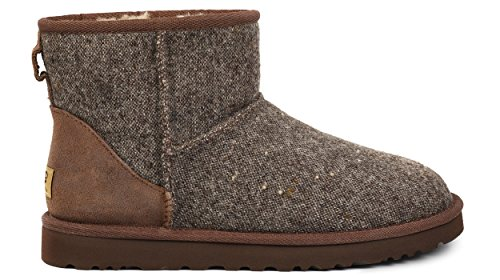 Ugg Mens Klassiska Mini Donegal Vinterkänga Grizzly Donegal