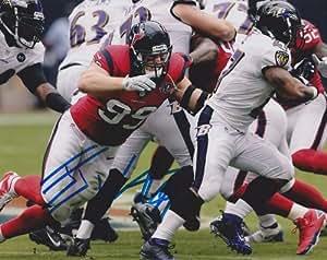 Autographed Watt Photo - JJ 8x10 - Autographed NFL Photos