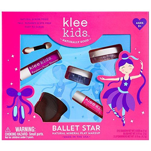 Luna Star Naturals Klee Kids Natural Mineral Makeup 4 Piece Kit, Ballet Star
