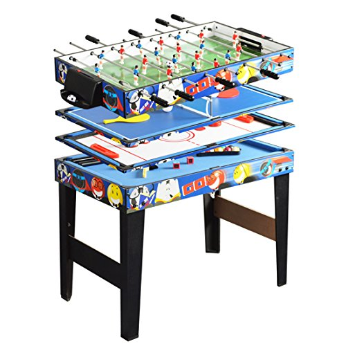 Deluxe 48in/4Ft 4 in 1 Top Game Table Multi-function Steady...