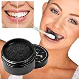 Tooth Whitener, FirstFly Teeth Whitening Powder Natural Organic Activated Charcoal Bamboo Toothpaste Whitens Stained Teeth (Black)