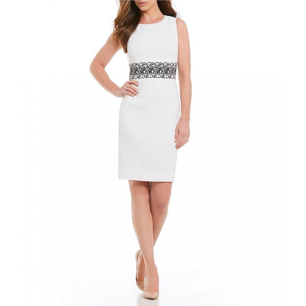 (カスパール) Kasper レディース ワンピースドレス ワンピース Textured Stretch Embroidered Waist Sheath Dress [並行輸入品] B07FSMR8ZQ 10