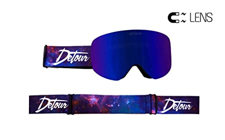 Detour Snow Goggles for Snowboarding, Snowmobiling, Skiing with Quick Grip Magentic Lens – Men and Women – Anti Fog and Anti Scratch