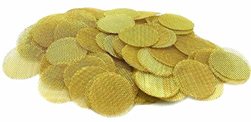 ABG 100ct 5/8 Inch Brass Pipe Screens (.625) Premium Screen Filters, Made in the USA By ABG ()
