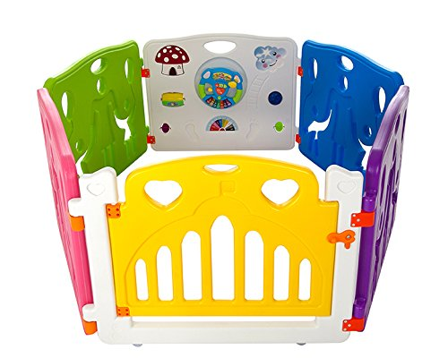 Cannons Plastic Baby Den Playpen with Games Station (Large Panels, 160 x 160 cm) playl6+2