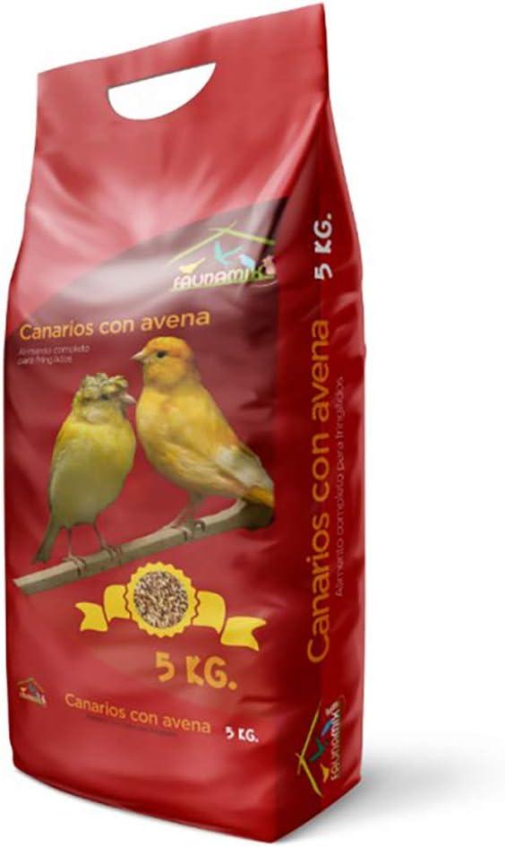 Faunamix Comida para Canarios Natural con Avena 5Kg