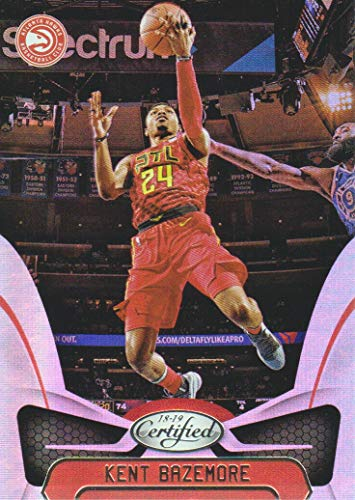 - 2018-19 Certified Basketball Mirror #38 Kent Bazemore Atlanta Hawks
