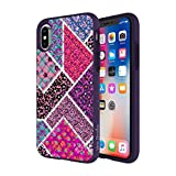 quilted diamond iphone case - Vera Bradley Quilted Inlay Case for iPhone X - Multi/Elderberry Microfiber Diamond Quilt - 191058040671