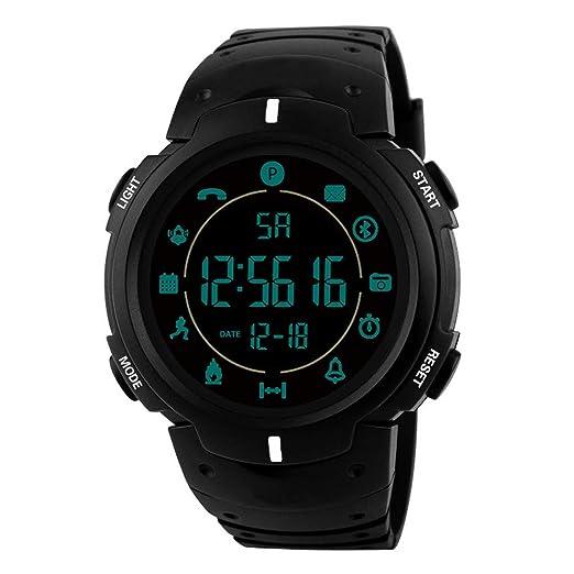 Dylung Reloj para Hombre Deportivo Hodómetro Impermeable Digital Smartwatch Inteligente Multifunciónal Bluetooth Cuarzo de Moda Colores