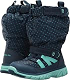 Stride Rite Girls' Made 2 Play Sneaker Snow Boot, Navy/Turquoise, 8.5 M US Toddler