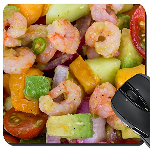 MSD Suqare Mousepad 8x8 Inch Mouse Pads/Mat design: 30744754 Shrimp and avocado summer salad