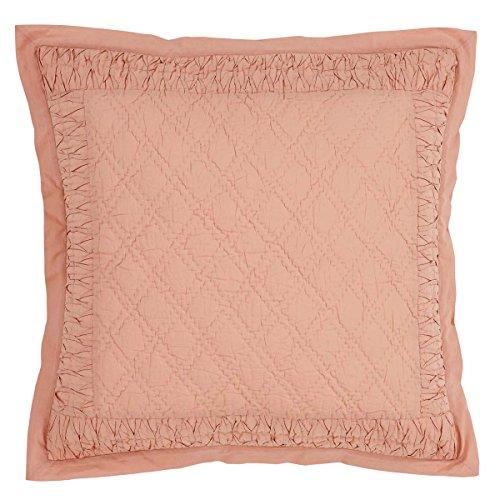 (VHC Brands Farmhouse Bedding - Adelia Orange Quilted Euro Sham, Apricot)