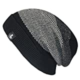 LETHMIK Mens Slouchy Cuff Beanie Mix Knit Winter Watch Cap Acrylic Skull Hat