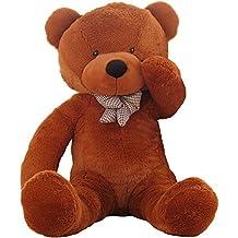 """WOWMAX 4.5 Foot Dark Brown Giant Huge Teddy Bear Cuddly Stuffed Plush Animals Teddy Bear Toy Doll 55"""""""