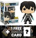 Kirito (Hot Topice Exclusive): Funko POP! x Sword Art Online Vinyl Figure + 1 FREE Sword Art Online Trading Card Bundle (065799)