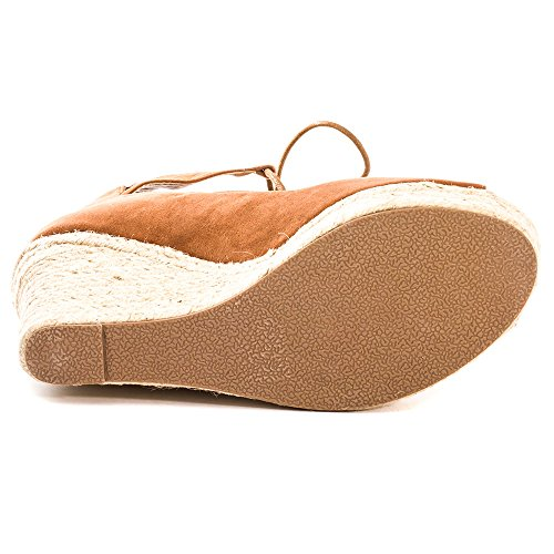 Dolcis Wedge Heel Tan Up Ghillie Hilary Womens High Lace Sandals RxwdOAqf