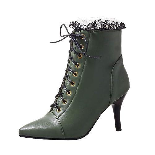 Spitzen Stiletto Damen Ausverkauf Schuhe Stiefel Junjie EeW9DHIY2