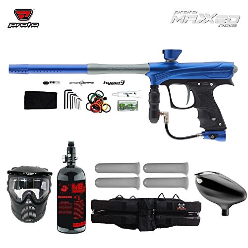 Proto Rize MaXXed Starter HPA Paintball Gun Package - Blue / Grey