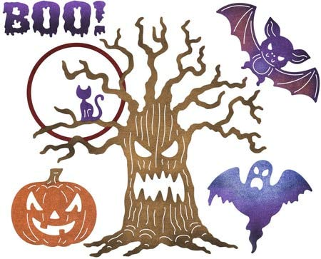 VT BigHome Halloween bat Tree Metal Cutting Dies Stencils for DIY Scrapbooking Album Paper Card Decorative Craft Embossing Die Cuts