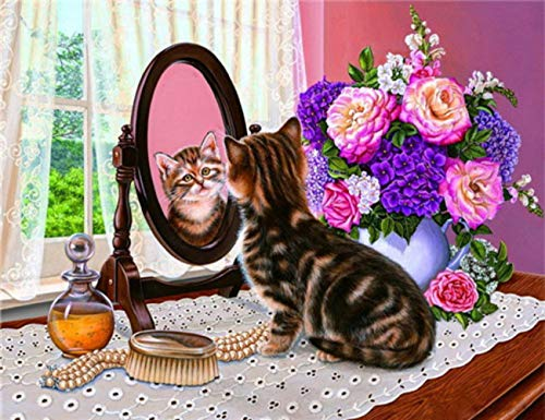 DIY 5D Diamond Painting Full Drilling Embroidery Rhinestone Paste Country cat DIY Painting Cross Stitch Household A…