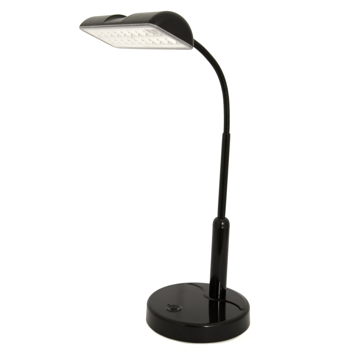 Light Accents Battery Powered Desk Lamp Super Bright LED's with Adjustable Metal Goose Neck (Black)