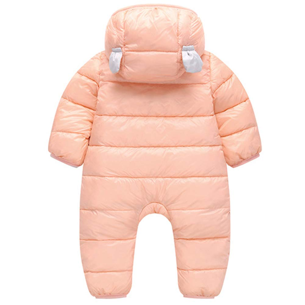 Happy childhood Baby Girls Boys 6-24M Winter Warm Rompers Infant Bodysuits Onesie Snowsuit Outfit Hooded Down Jumpsuit