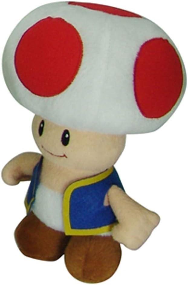 Amazon Com Nintendo Official Super Mario Toad Plush 8 Toys Games