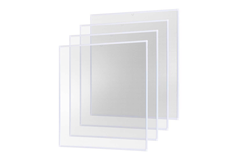 Insektenschutz Fliegengitter Fenster Alurahmen Basic weiß , 100 x 120 cm 4er Set empasa