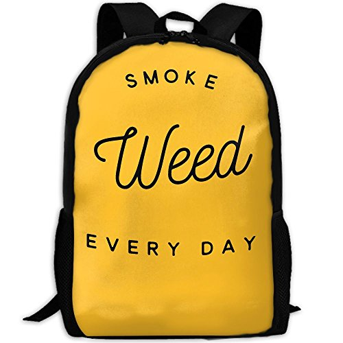 SMOKE WEED EVERY DAY Interest Print Custom Unique Casual Backpack School Bag Travel Daypack Gift (Smoke Weed Backpack)