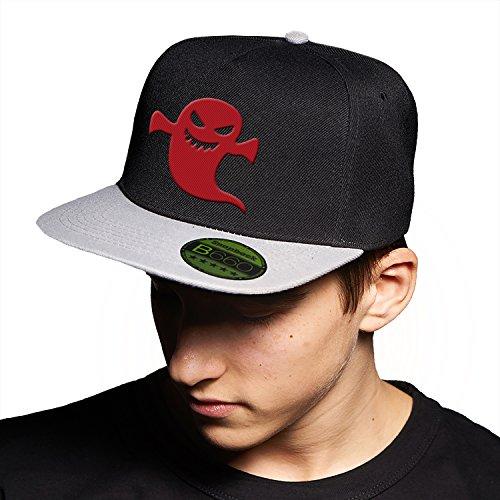 Ghost Baby Red Black Grey Cap Original Gorra Snapback Unisex, Ajustable, con Visera Plana y Logotipo Urbano Bordado.