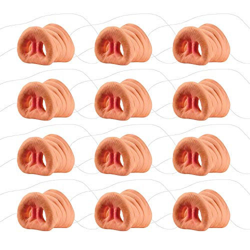 S SUNINESS 12Pcs Pig Nose Mask Costume Animal Mask with Elastic Band (12 Pack) -