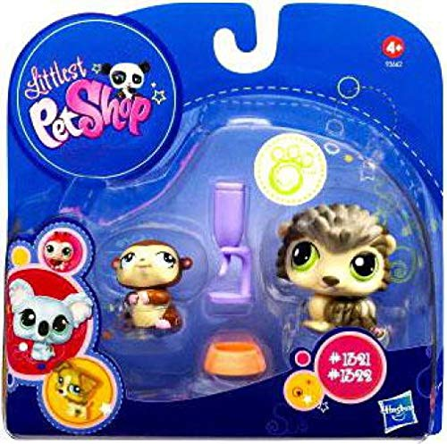 (Littlest Pet Shop 2010 Assortment 'B' Series 1 Collectible Figure Porcupine & Hamster)