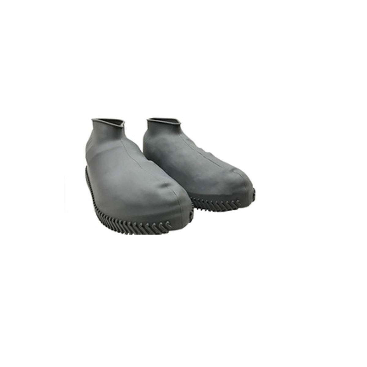 WUHUIZHENJINGXIAOBU Waterproof Shoe Cover, rain-Proof Water-Like Rubber wear-Resistant Shoe Bag, Free to Choose from a Variety of Colors Shoe Covers That can be Worn on Rainy Days, (Color : Gray-L)