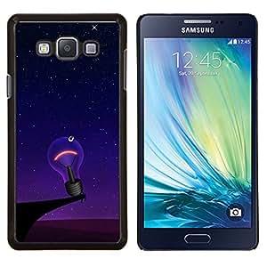 TECHCASE---Cubierta de la caja de protección para la piel dura ** Samsung Galaxy A7 ( A7000 ) ** --Divertido solitaria bombilla