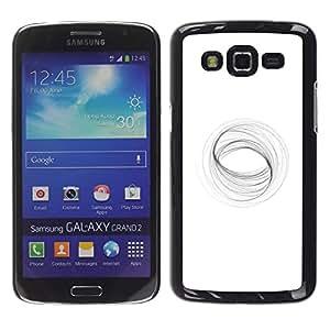 Paccase / SLIM PC / Aliminium Casa Carcasa Funda Case Cover - Abstract Vortex Mathematics White - Samsung Galaxy Grand 2 SM-G7102 SM-G7105
