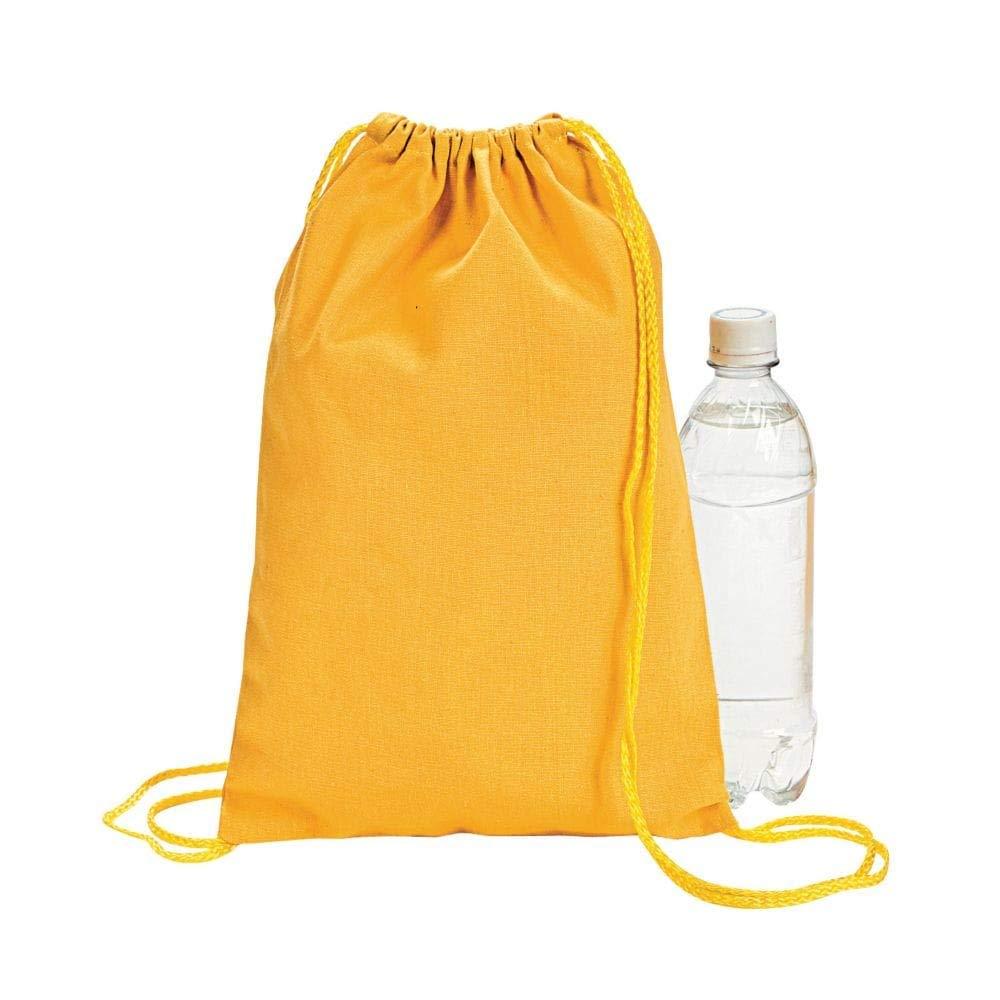 Gelb Drawstring Backpacks (1 Dozen) - BULK by Oriental Trading Company