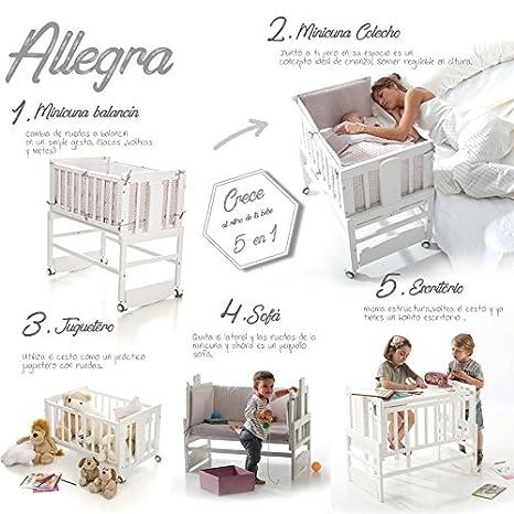 Bolin Bolon Coleccion 2018 Minicuna colecho Allegra con vestidura ANGY Gris: Amazon.es: Bebé